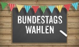 Bundestagswahlen, élections fédérales allemandes, sur le tableau noir Image stock