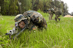 bundeswehr όπλο στρατιωτών Στοκ φωτογραφίες με δικαίωμα ελεύθερης χρήσης