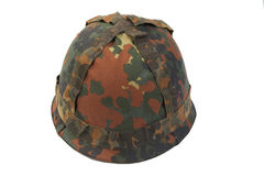 Bundeswehr helmet with camouflage Stock Photos