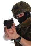 bundeswehr tjäna som soldat Arkivbild