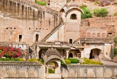 Bundi宫殿,印度皇家庭院  免版税库存图片