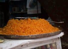 Bundi, bocado indio en un mercado Imágenes de archivo libres de regalías