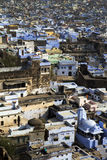 Bundi Indien, blåttstad arkivbilder