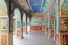 Bundi slott. Indien Arkivfoto