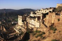 Bundi slott, Indien fotografering för bildbyråer