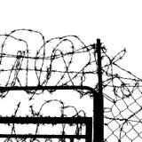 bundit staket Arkivfoto