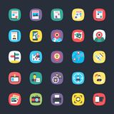 Bundle of App Flat Icons. These colorful, eye pleasing flat icons belong to the category of apps. The objects in the set are so intricately designed using Royalty Free Stock Photos