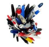Bundle of Ballpoint Pens stock image