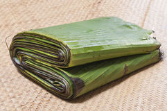 Bundle of banana leaves Royalty Free Stock Images