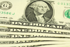 Bundle of bills in one dollar. Texture Royalty Free Stock Photography