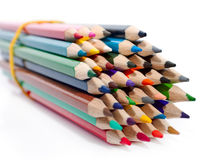 The bundle of bright new pencils Stock Images