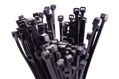 Bundle of cable ties Stock Photos