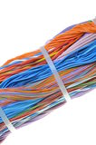 Bundle of cables with cable ties Stock Images