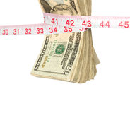 Bundle of cash getting squeezed Royalty Free Stock Photo