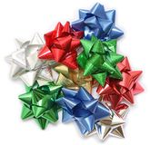 A bundle of Christmas bows Royalty Free Stock Image
