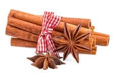 Bundle of cinnamon sticks Stock Photos