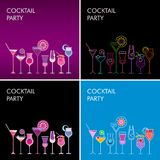 Cocktail Party vector backgrounds Royalty Free Stock Photos
