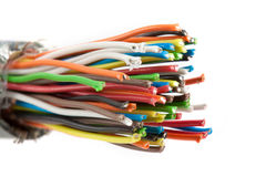 Bundle of color cables Stock Photography