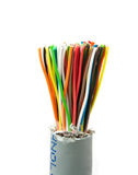 Bundle of color cables Royalty Free Stock Photos