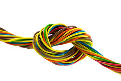 Bundle of color cables Stock Image
