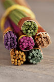 Bundle of colored aroma sticks Stock Photos