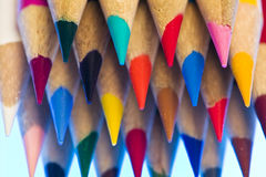 Bundle of colored pencil crayons Royalty Free Stock Photo