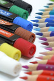 Bundle of Colored Pencils Royalty Free Stock Images