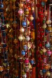 Bundle of colorful beads on a string Stock Photo