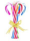 Bundle Of Colorful Candy Canes Stock Photography