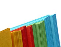 Bundle of colorful paper Stock Photos
