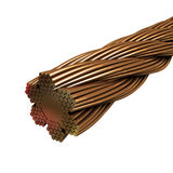 Bundle of copper wires 3d model Royalty Free Stock Image