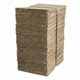 Bundle of corrugated cardboard with stacked Royalty Free Stock Image