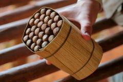 Bundle of Cuban Cigars Stock Photography