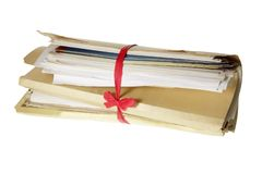 Bundle of Documents royalty free stock photography