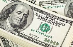 Bundle of dollar banknotes Royalty Free Stock Photos
