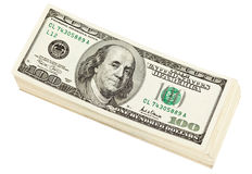 Bundle of dollar banknotes Stock Photos
