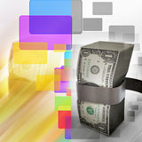 Bundle of dollar notes Royalty Free Stock Images