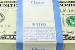 Bundle of 1 Dollar notes Royalty Free Stock Photo