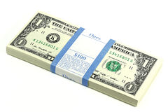 Bundle of 1 Dollar notes Stock Photos