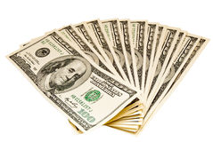 Bundle of dollars Stock Photography