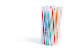 Bundle of Drinking Straws Stock Photos