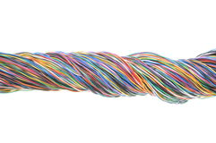Bundle of electric cables Stock Photo