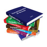 Bundle of Encyclopedia Books Stock Image