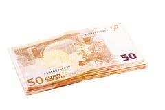 Bundle of euro banknotes Stock Photos