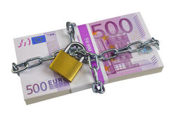 Bundle euro banknotes Royalty Free Stock Photo