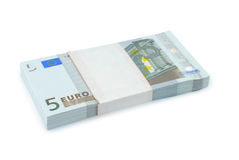 Bundle Of Euro Money Stock Photo