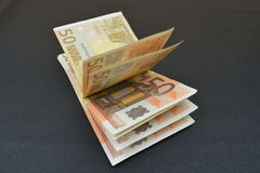 bundle of european banknotes Stock Images