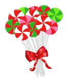 Bundle of Festive Lollipops Stock Photography