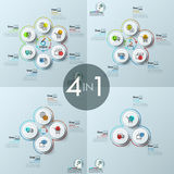 Bundle of four infographic design layouts Stock Photo