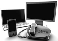 A bundle of four main telco services Royalty Free Stock Photo